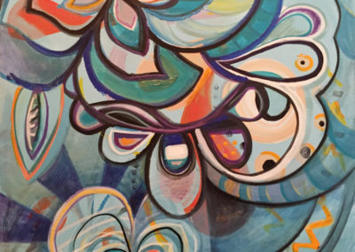 Urban Island • Acrylic and Oil on canvas • 30″ x 40″ • FOR SALE