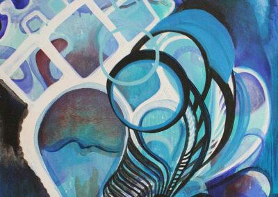 Blue Diamonds • Oil on canvas • 20″ x 36″ • FOR SALE